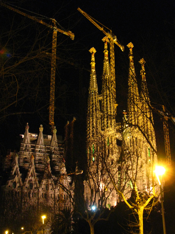Sagrada Familia at night Barcelona