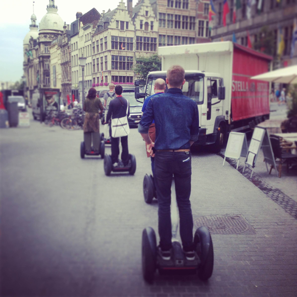 Invading Antwerp segway-style!