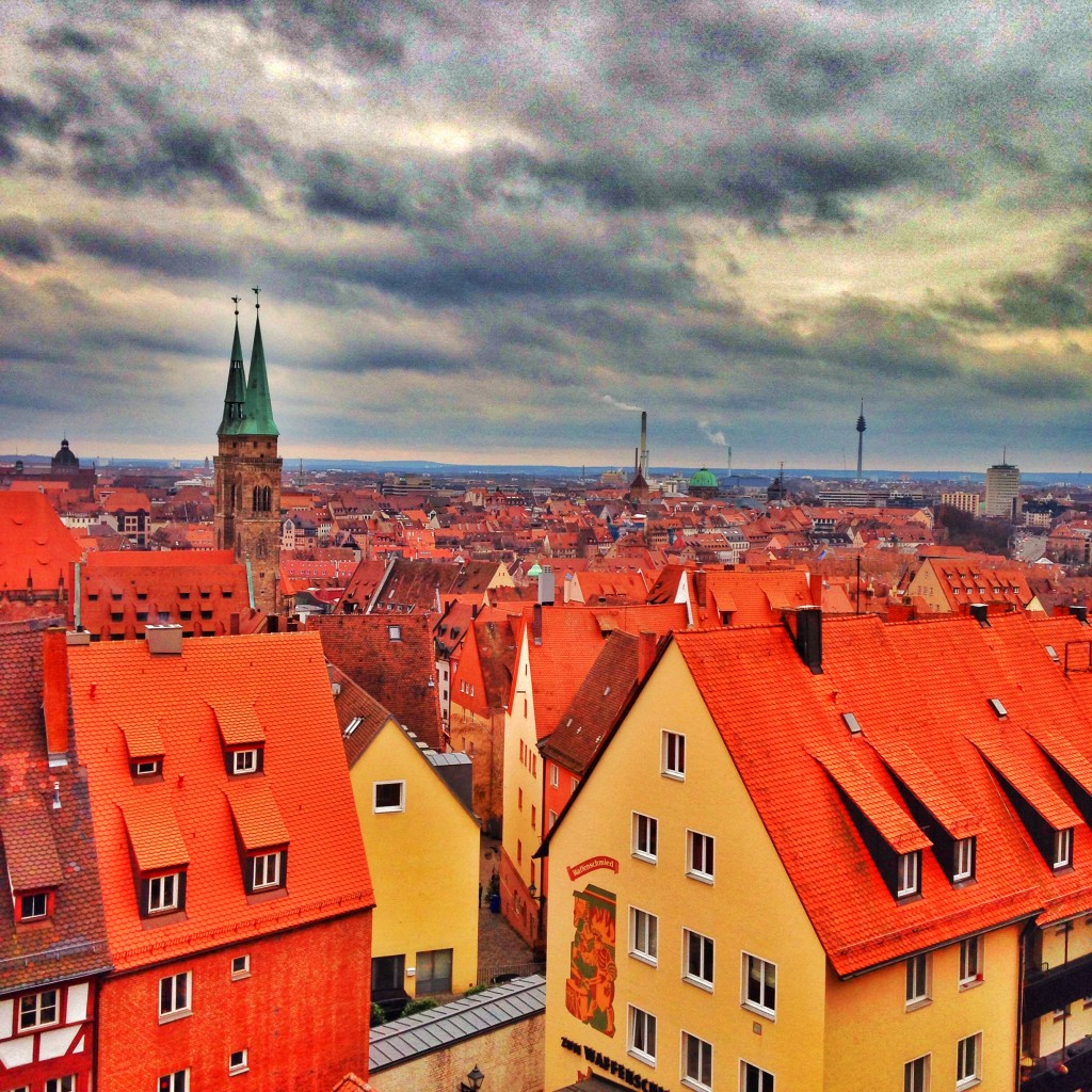 view of Nuremberg from the Kaiserburg Tower