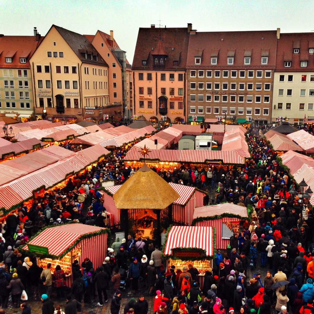 View of the festive Nuremberg Christmas Market