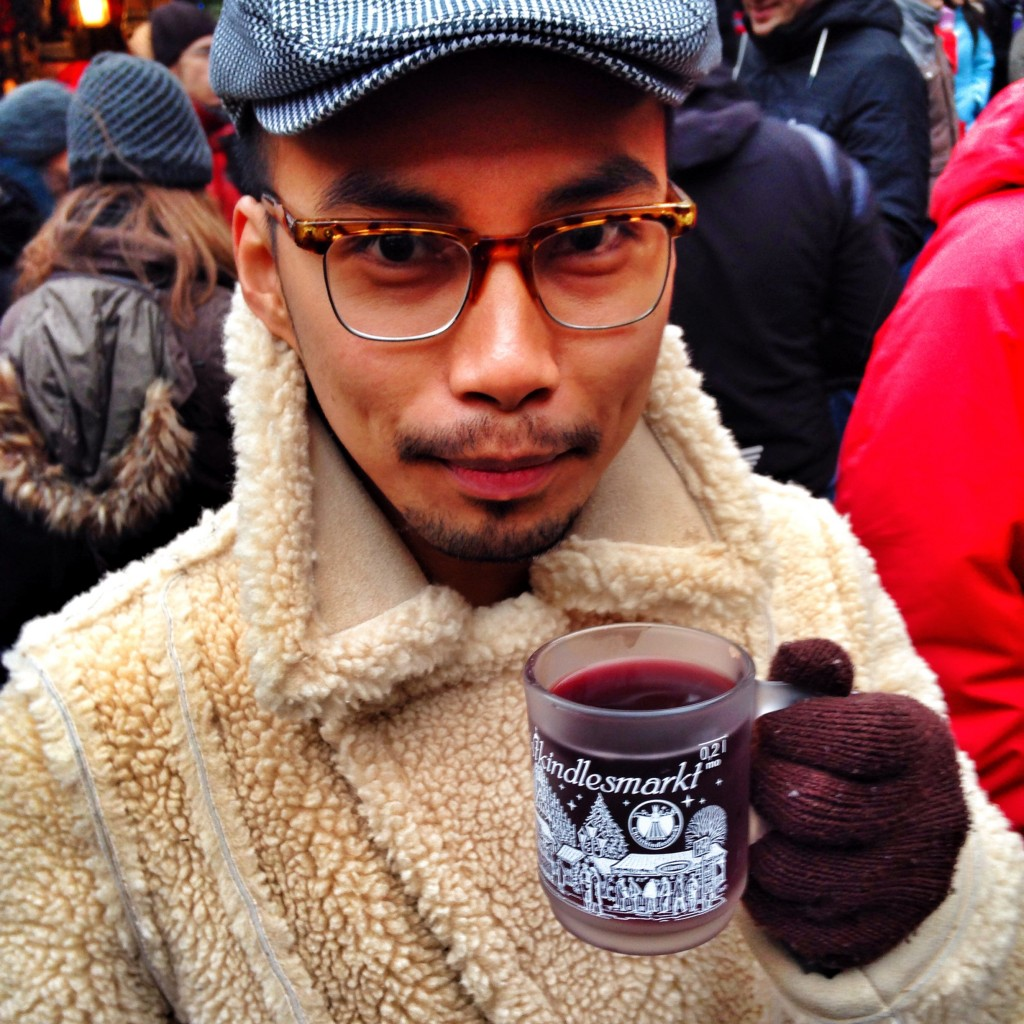 My dimples represent the dots above the u-umlaut in glühwein