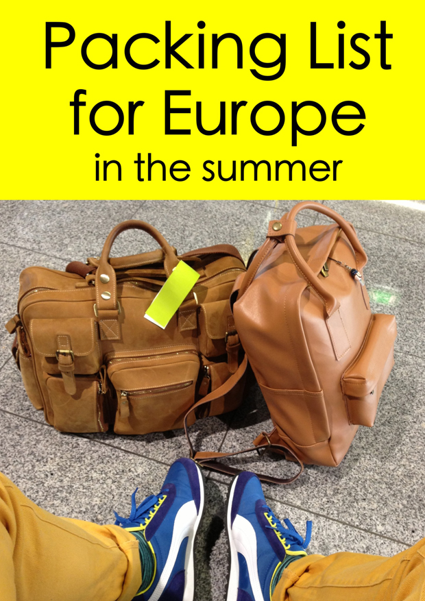 packing list europe summer eurotrip