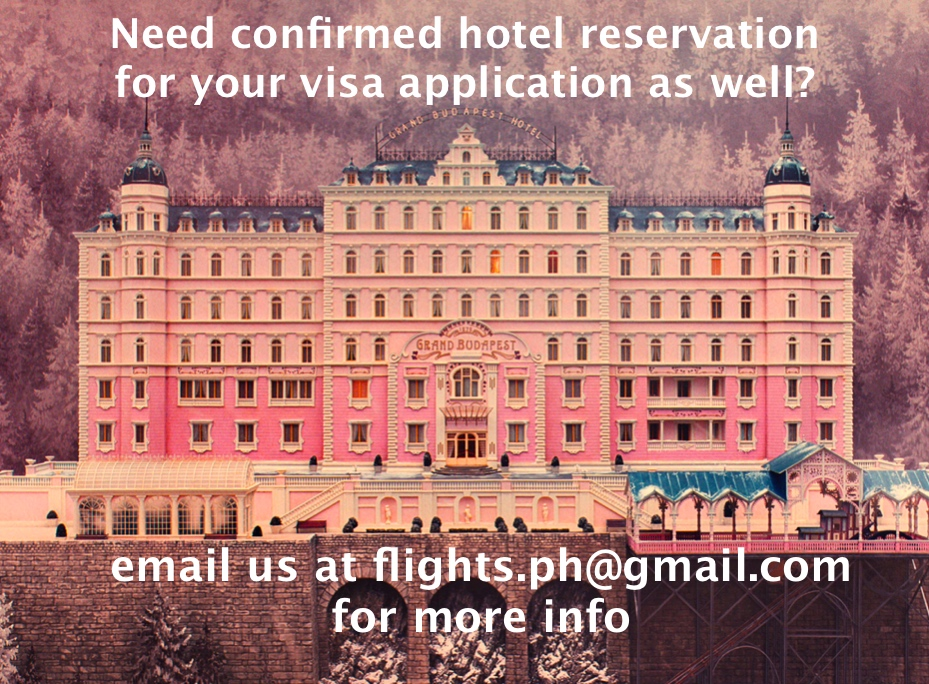 confirmed hotel reservation for visa application