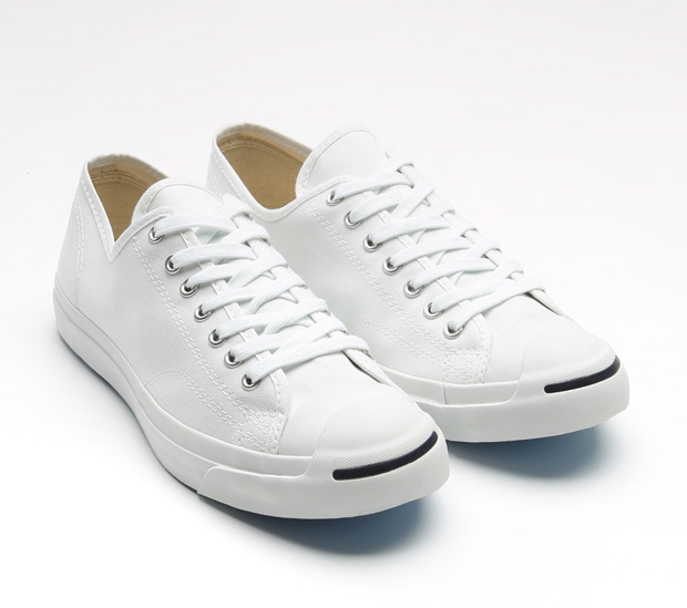 jack purcell converse white leather sneakers