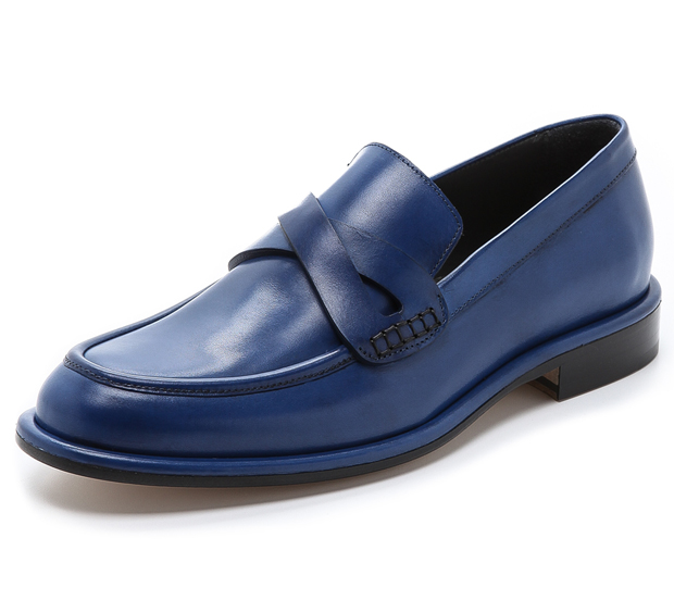 viktor and rolf loafers blue