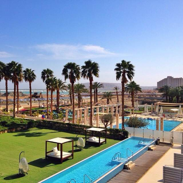 The gorgeous Herods Dead Sea hotel in Israel.