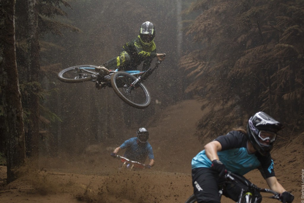 "on set of 'Unreal"" a mountain bike film by Anthill and TGR"