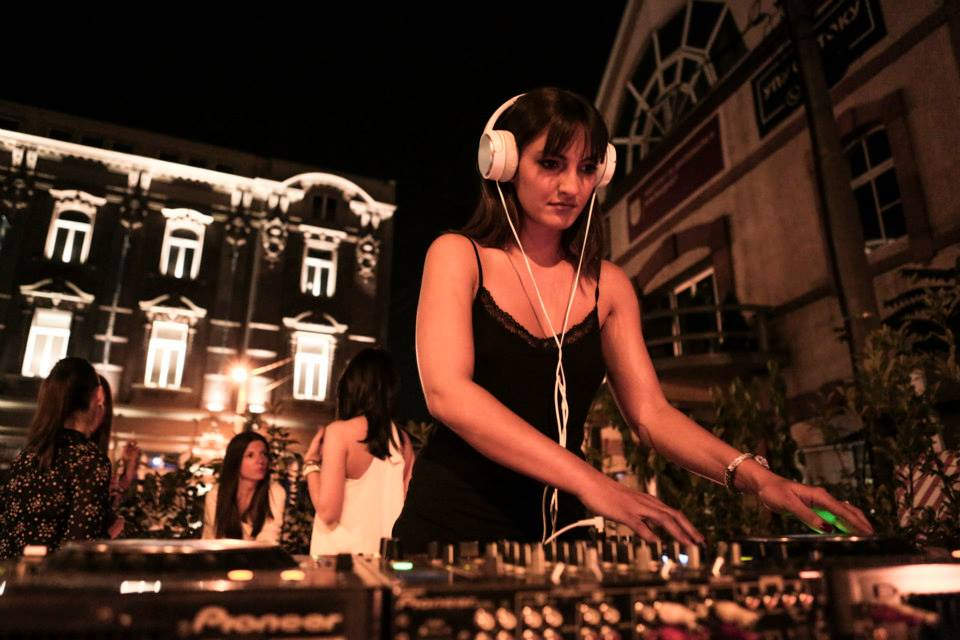 Marija spinning at Mikser Garden