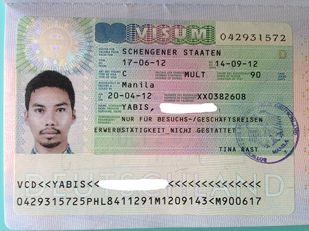 My German Schengen visa in 2013. They have a record of this.