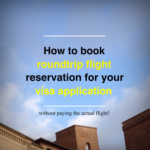How To Book Flight Reservation For Visa Application